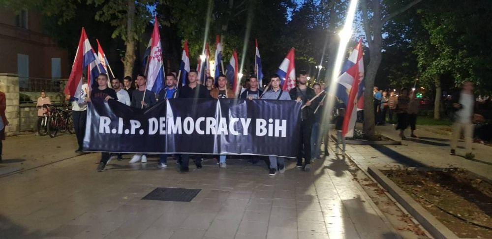 Demonstracije protiv izbora Komšića za člana Predsjedništva BiH