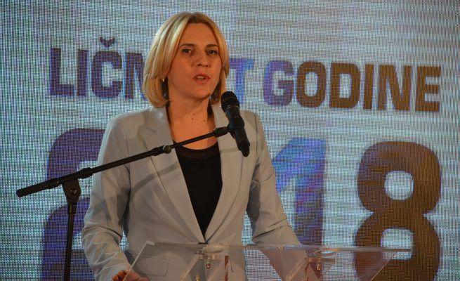 """Ličnost godine """"Nezavisnih novina"""" Željka Cvijanović"""